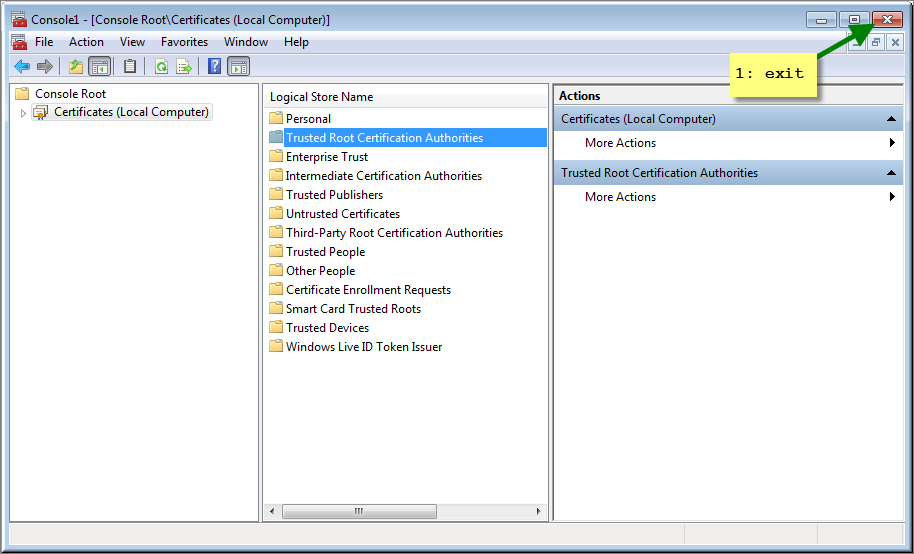 How To Install A Trusted Certificate Authority On Windows 7 The