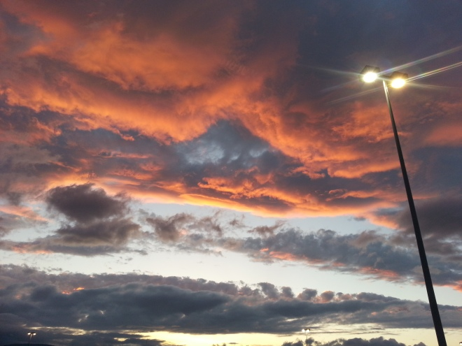 2014 - Sunset at Home Depot