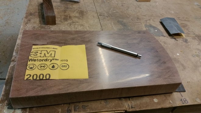 Pre Finished Brazilian Cherry Butcher Block Cutting Board