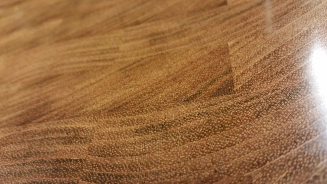 Closeup of Brazilian Cherry Butcher Block Cutting Board Grain