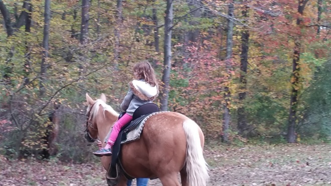 Anna taking a ride